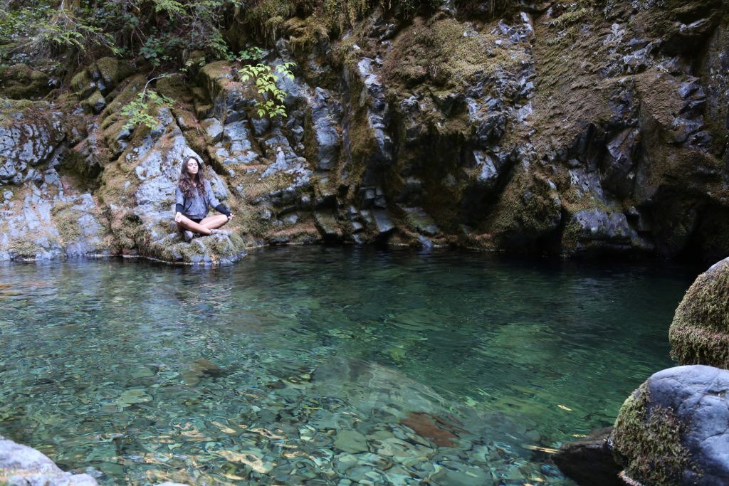 Oregon's Opal Pool is hidden deep in an ancient forest, and features bright emerald green water. Photo credit: Travel Channel.