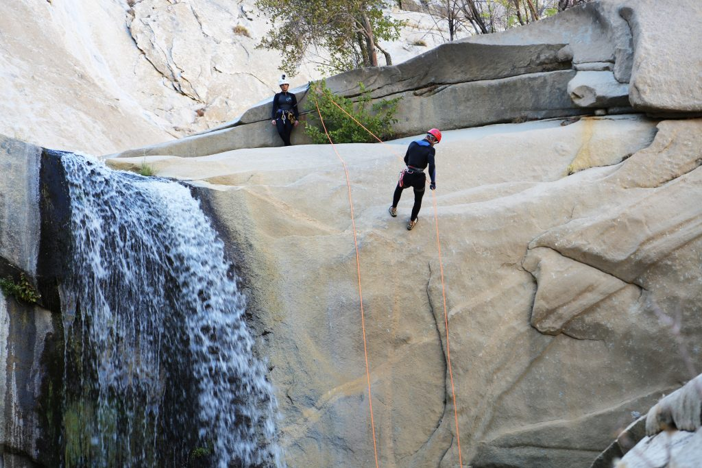 Rappelling is a necessary skill in order to successfully navigate the Seven Teacups in California. Photo credit: Travel Channel.