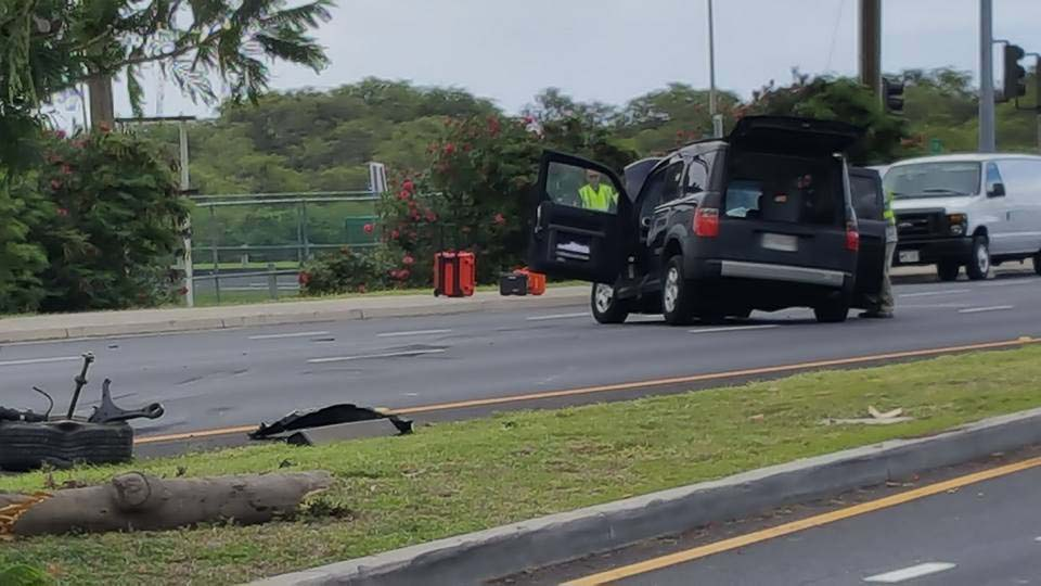Kaʻahumanu Avenue traffic accident (6.2.16) Photo credit: Stevan Holt