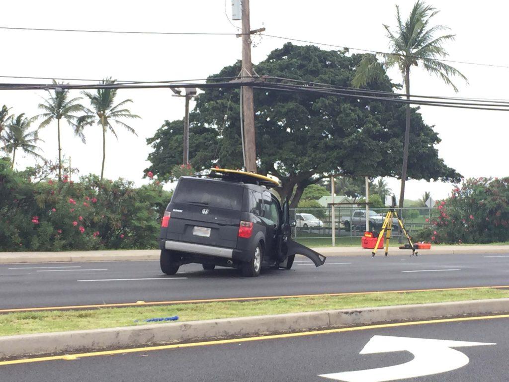 Kaʻahumanu Avenue traffic accident (6.2.16) Photo credit: Naomi S Ellison