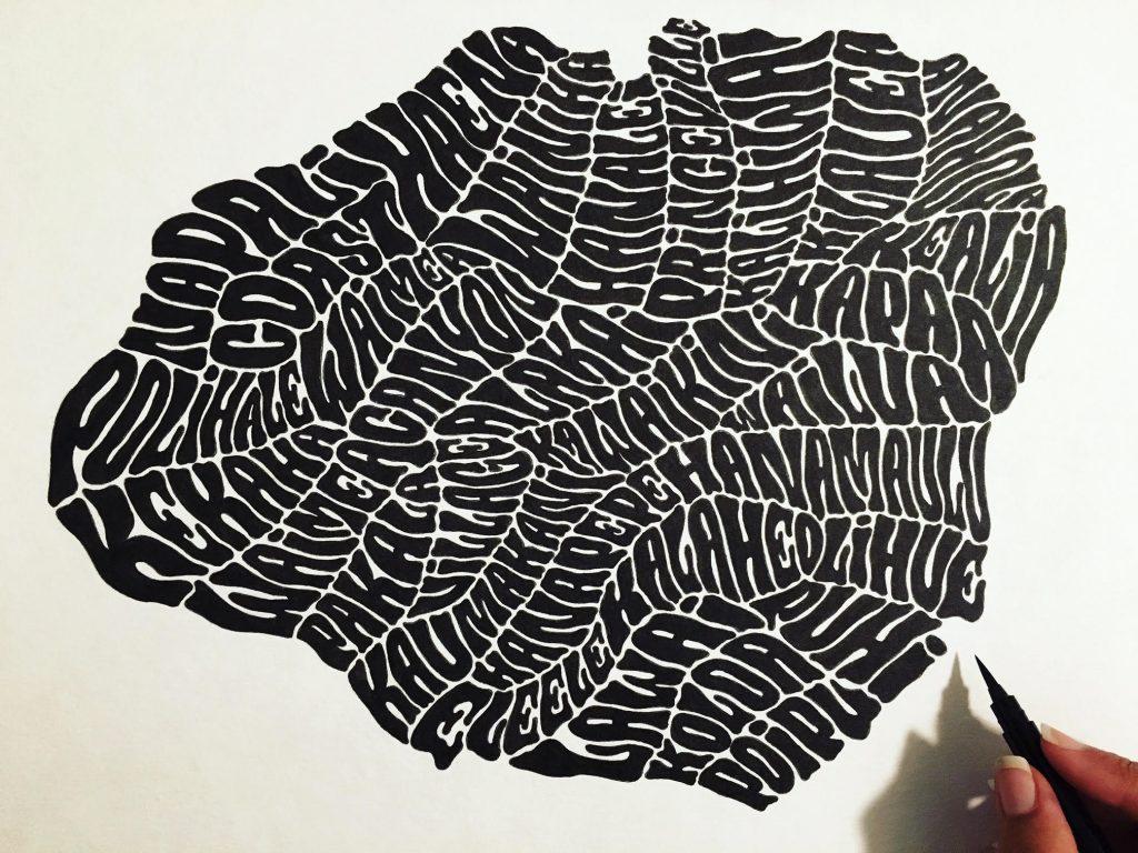 Her final Kaua'i piece. Photo Courtesy Amanda Joy Bowers