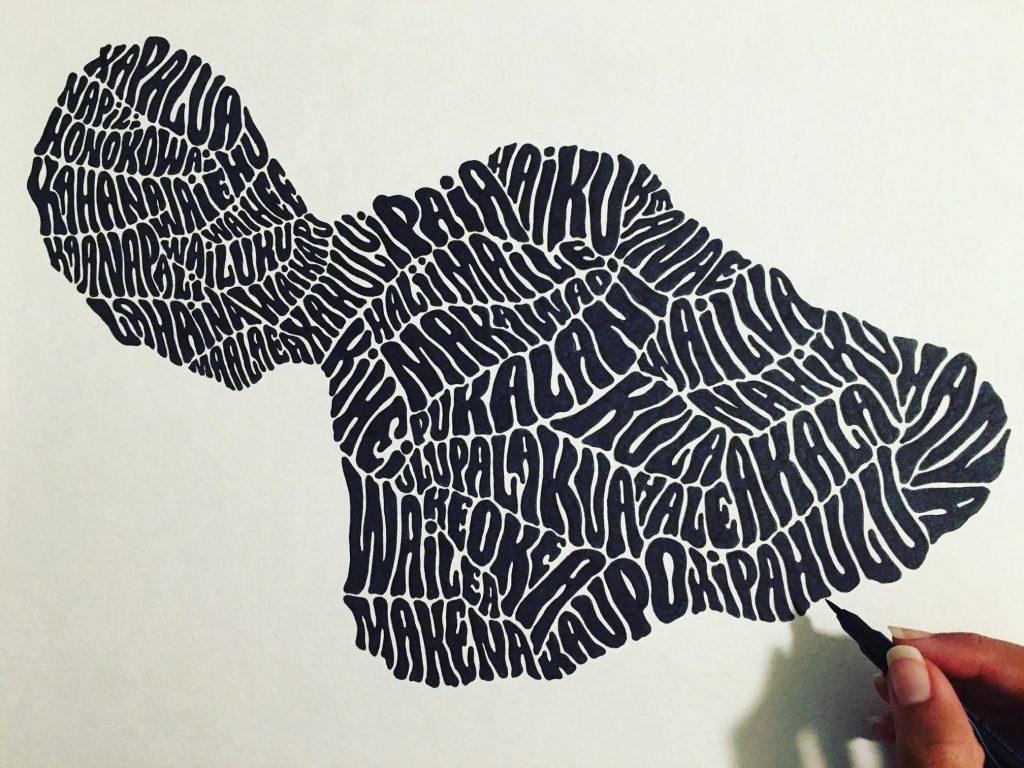 Amanda Bowers' final copy of her Maui artwork. Photo Courtesy Amanda Joy Bowers