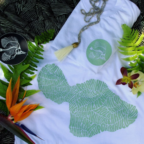 Maui t-shirts which sold out immediately. More to be restocked soon. Photo Courtesy Amanda Joy Bowers