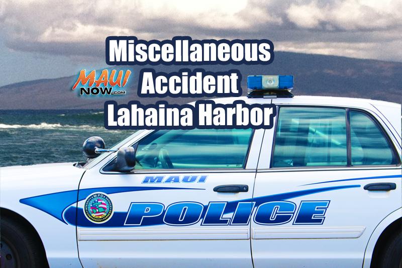 Miscellaneous Accident Lahaina Harbor. Maui Now image.