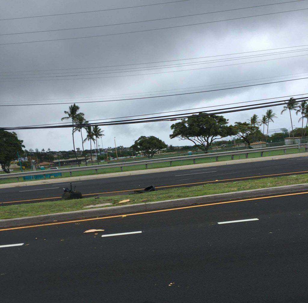 Kaʻahumanu Avenue traffic accident (6.2.16) Photo credit: Timothy Lara.