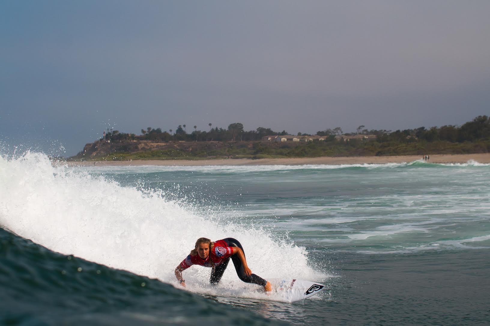 Summer drives off the bottom Photo: Nate Harrington