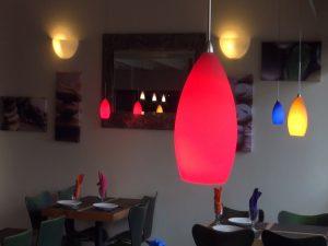 Lights and decor at Maui Thai Bistro. Photo by Kiaora Bohlool.