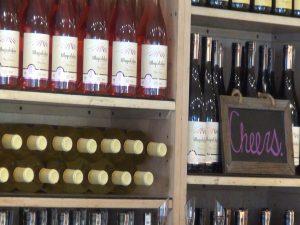 A range of bottles at the MauiWine tasting room. Photo by Kiaora Bohlool.