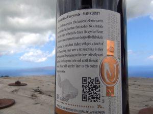 MauiWine bottle. Photo by Kiaora Bohlool.