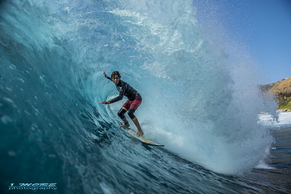 Cole Alves deep in the tube at Honolua Bay Photo: OneMore Photography