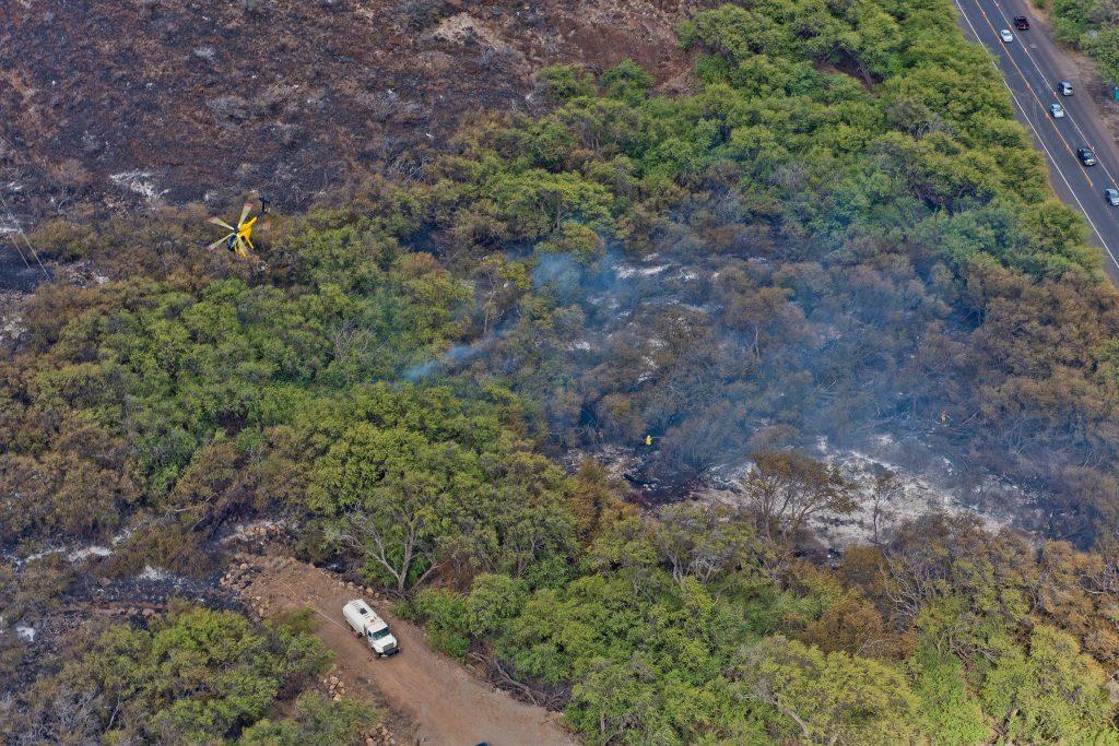 Māʻalaea fire. Sunday photos July 3, 2016. Photos courtesy: County of Maui, Ryan Piros.