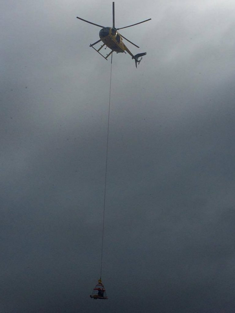 Rescue at Wailuku River (Iao Stream). 7.23.16. Photo credit: Nico Arihood.