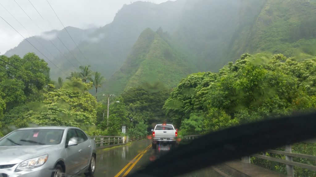 TS Darby. The Department of Parks & Recreation has reopened all county park facilities today, however Kepaniwai Park remains closed due to the weather. Photo: Kepaniwai at ʻĪao, 2 p.m. 7.24.16 by Wendy Osher.