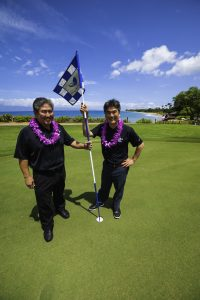 Hawai'i Food & Wine Festival founders at the golf challenge on Maui in 2015. Courtesy photo.