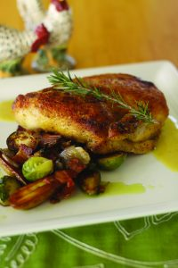 Chicken entrée from Hali'imaile General Store. Courtesy photo.