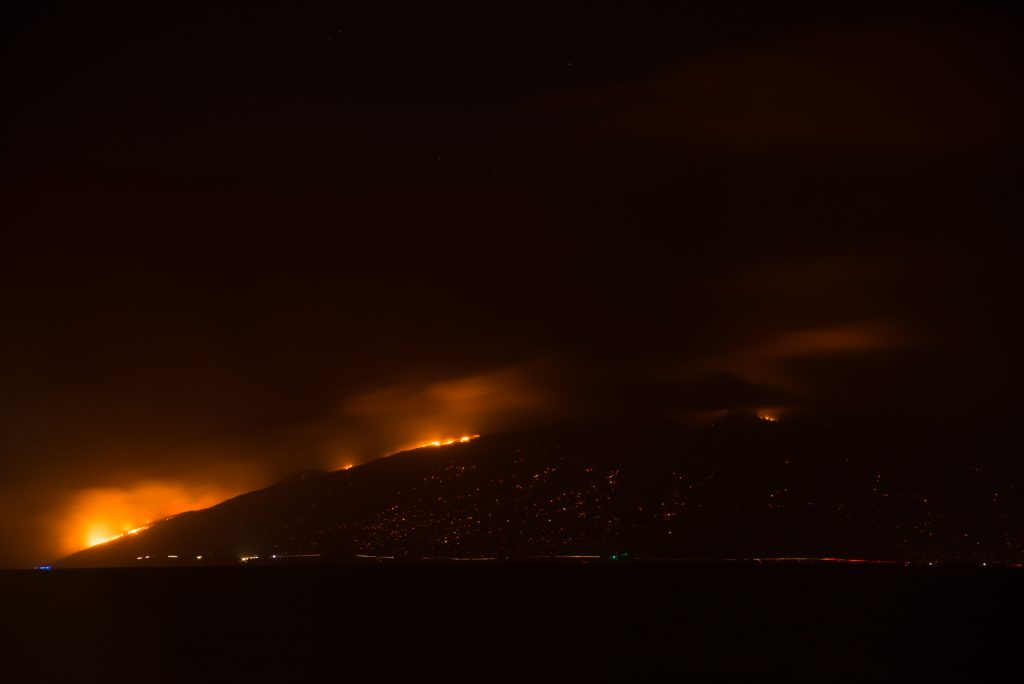 Māʻalaea fire 7/2/16 Photo credit: Rachael Johnson
