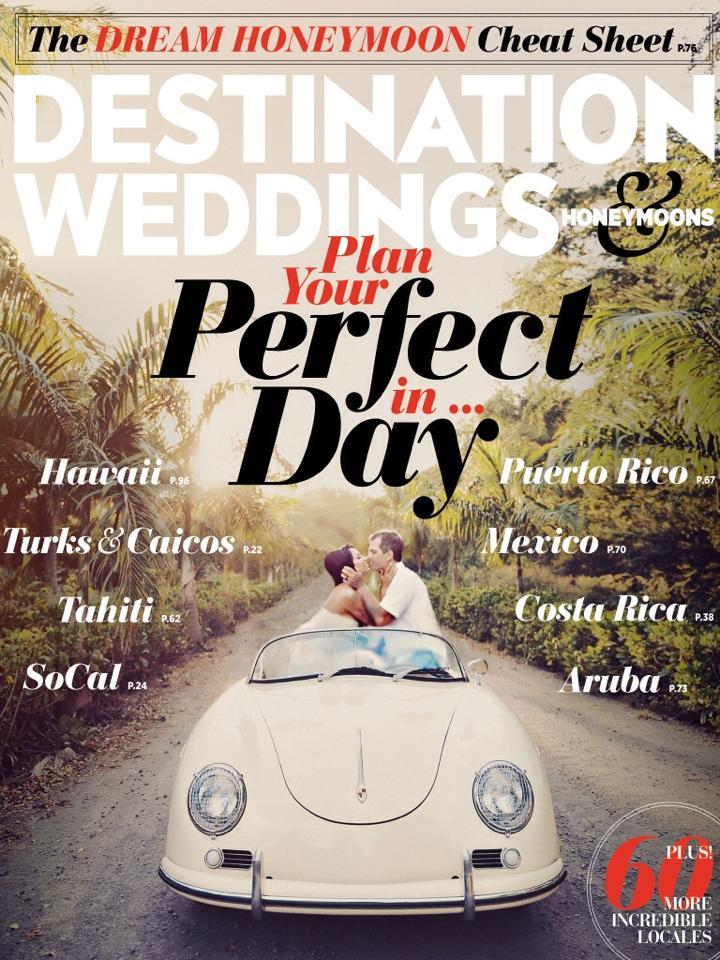 Destination Wedding Magazine cover 9-14