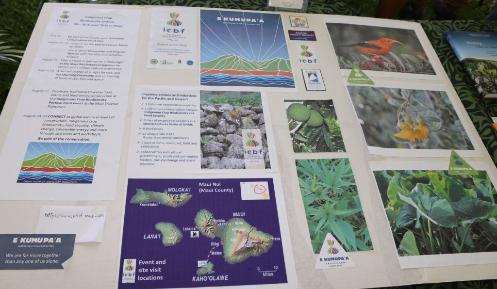 Indigenous Crop Biodiversity Festival poster from the 2016 Taro Festival in Hana. Photo Courtesy Nicole Schenfeld.