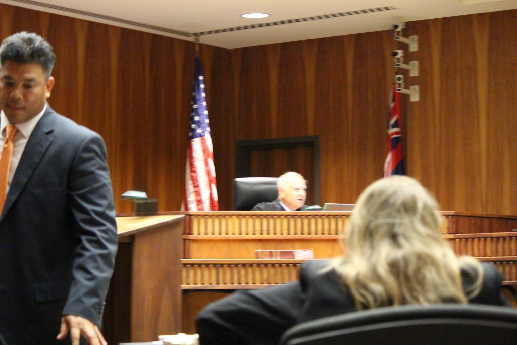 Second Circuit Court Chief Judge Joseph Cardoza with prosecuting team in the foreground led by Robert Rivera. Photo by Wendy Osher 7.12.16