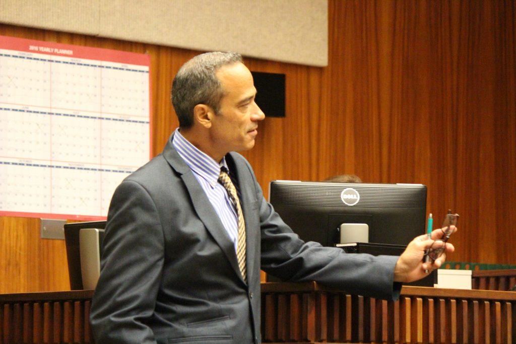 Capobianco's defense attorney Jon Apo. Photo by Wendy Osher 7.13.16.