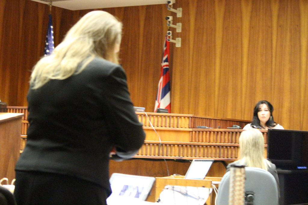 Kimberlyn Scott testifies in the murder trial for Steven Capobianco. Photo by Wendy Osher.