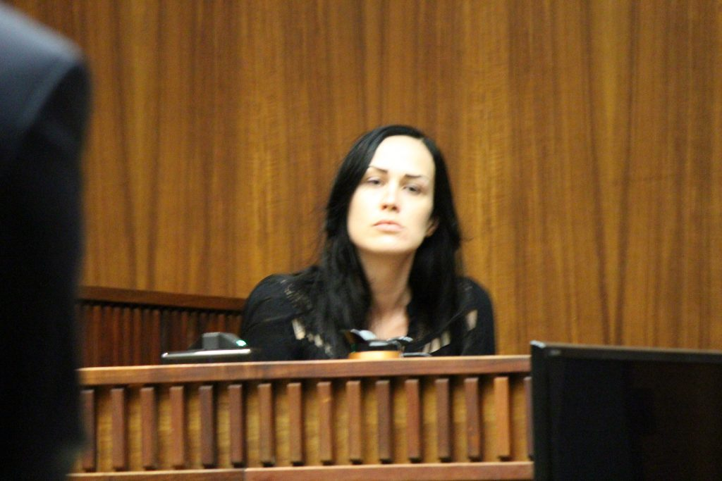"""Brooke Scott, the older sister of Carly """"Charli"""" Scott testified on Wednesday, July 27, 2016 in the murder trial of Steven Capobianco. Photo: 7.27.16 by Wendy Osher."""