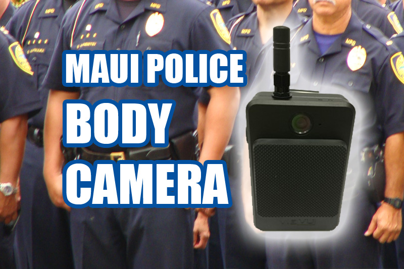 Maui Police Department body camera study. Maui Now graphics.