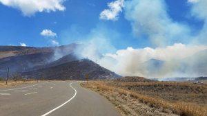 MFD photo of the Holoapi'ilani Highway and Olowalu fire on July 8, 2016.