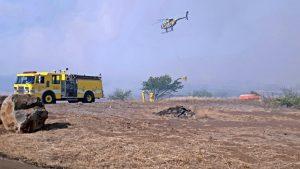 Olowalu-Ukumehame fire, July 8, afternoon, MFD photo