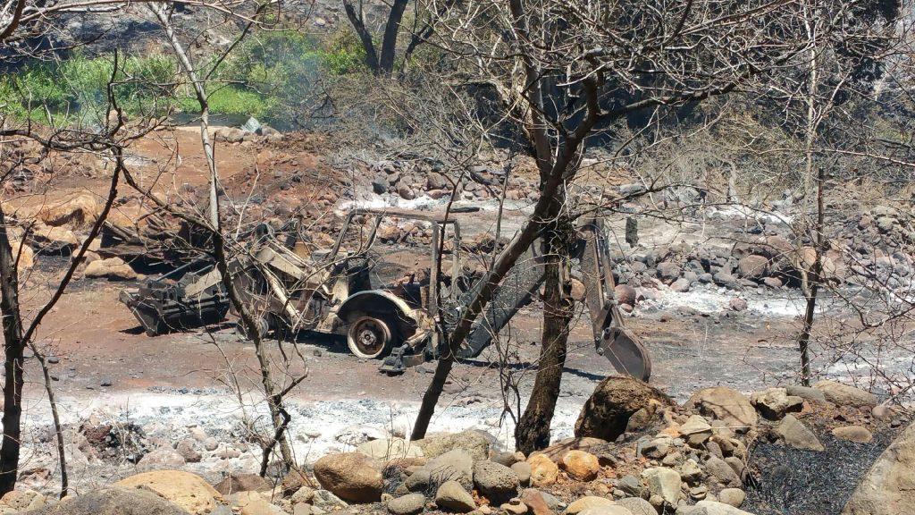 July 9, 2016, Olowalu brushfire. MFD photo.