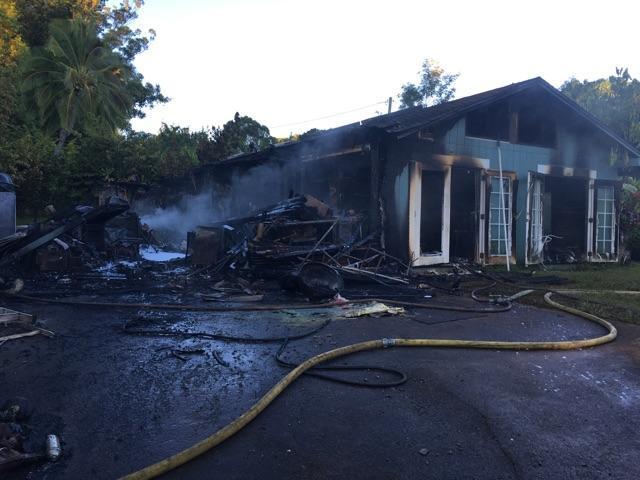 Haʻikū structure fire. (7.13.16) PC:  Maui Fire Dept