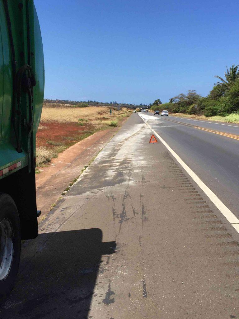 Honokōwai Oil Spill (7.20.16) PC: Maui Fire Dept