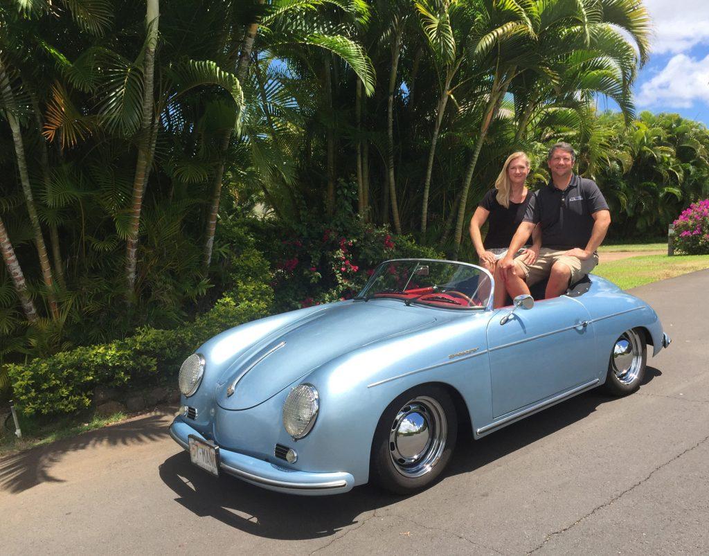 Maui Roadsters owners Christine Vestfals & Larry Lutz #1 credit Irene Vestfals