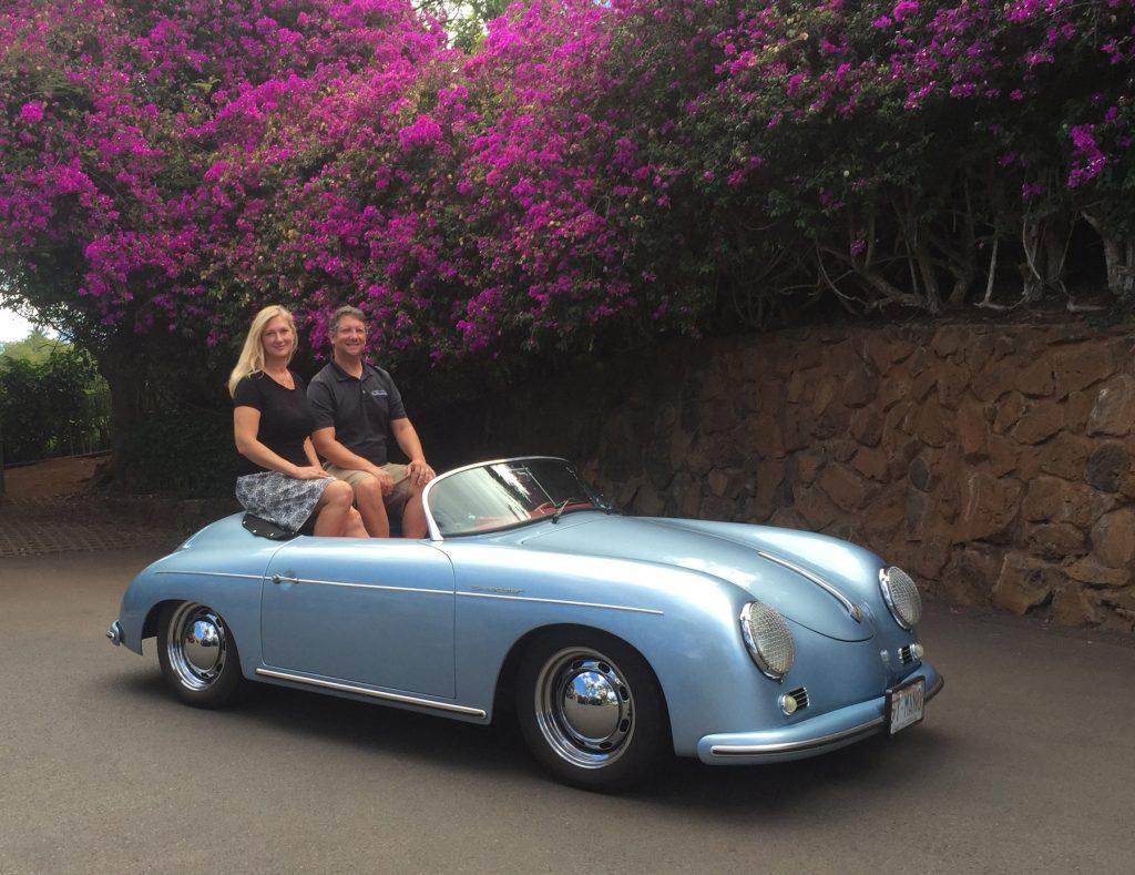 Maui Roadsters owners Christine Vestfals & Larry Lutz #2 credit Irene Vestfals