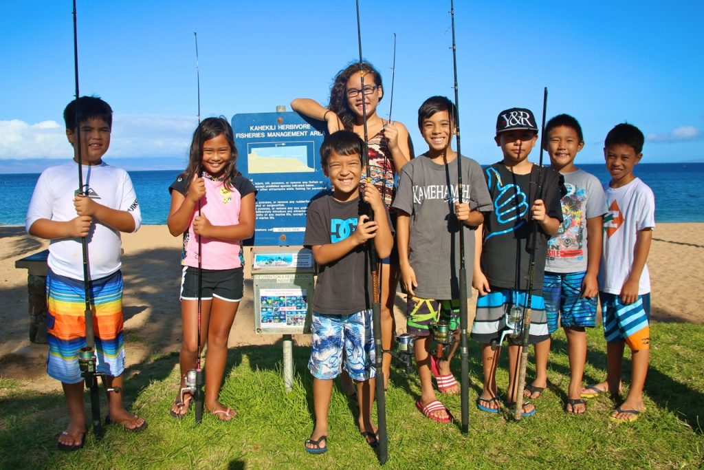 The 2016 Ridge to Reef Rendezvous will feature pono fishing activities for keiki. Photo credit: Ananda Stone.
