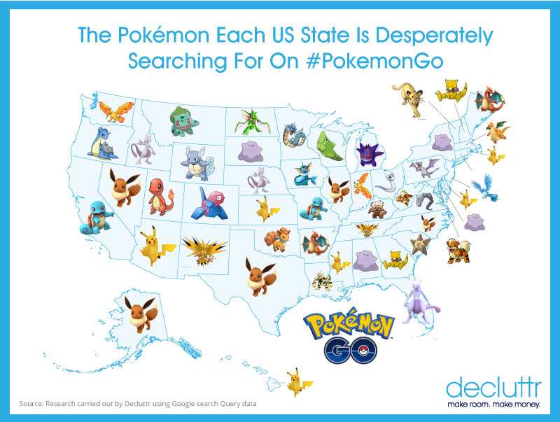 Pokemon Go graphic courtesy: Decluttr