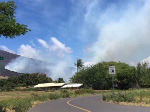 Taken from entrance to Luawai Street afternoon of July 8, 2016. Olowalu-Ukumehame fire.