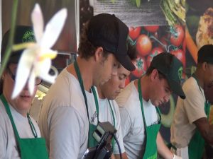 The three chefs/co-owners work the line at Fork & Salad. Courtesy photo.