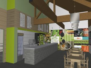 Architectural rendering for build-out of Fork & Salad. Courtesy photo.