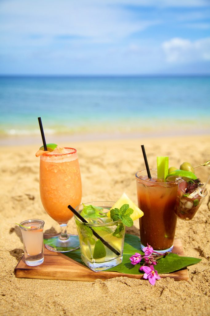 Kick off summer with these hot new cocktails at The Westin Kā'anapali Ocean Resort Villas restaurants. Featuring a Poke Bloody Mary, Valley Isle Mojito and a Pickled Mango Margarita. Photo Courtesy.