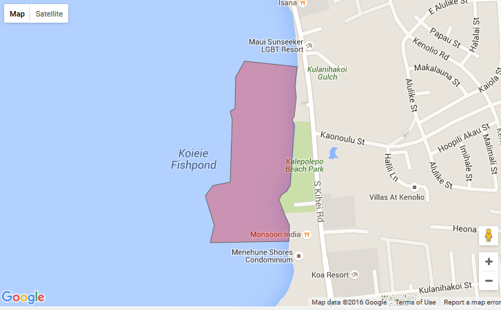 Brown Water Advisory. Kōʻieʻie 7.15.16. Courtesy: DOH.