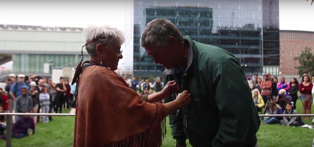 Hōkūleʻa arriving in Boston, MA (7.09.2016) Image credit: Polynesian Voyaging Society / Nāʻālehu Anthony / ʻŌiwi TV