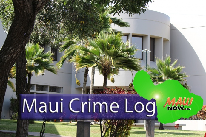 Maui Crime March 29 to April 4: Break-ins, Burglaries, Thefts