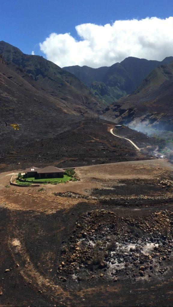 Maui Fire Department photo of Olowalu fire, July 9, 2016.