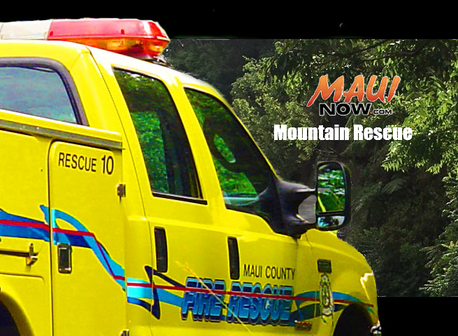 Mountain Rescue. Graphic: Wendy Osher / Maui Now.