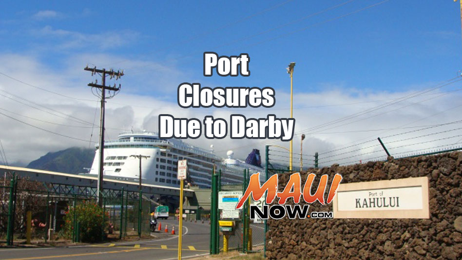 Port closures due to TS Darby. File image/graphic: Wendy Osher.