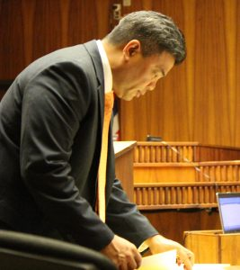 Prosecuting attorney Robert Rivera. (6.27.16) Photo by Wendy Osher.