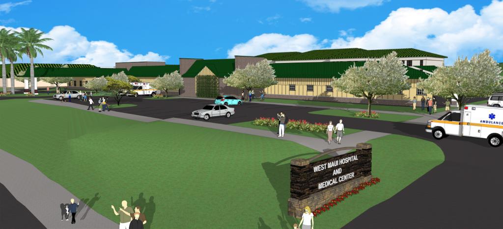 West Maui Hospital and Medical Center artist's rendering. Courtesy image.