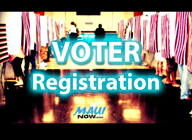 Voter registration. Graphics/Photo by Wendy Osher.