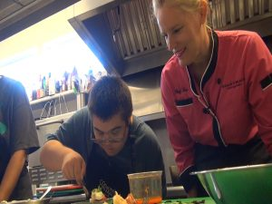 Easter Seals participant with Chef Lee Anderson. Photo by Kiaora Bohlool.